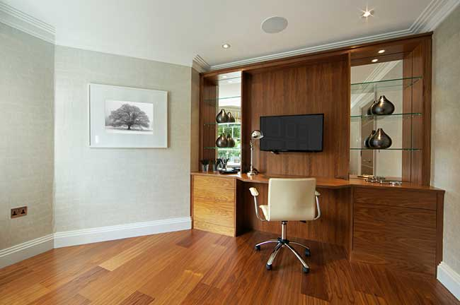 Transform a Home Office with Exotic Wood Veneers